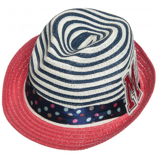 Straw hat with patch (4-8 years)