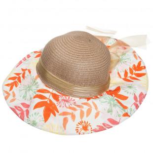 Καπέλο ψάθινο φλοράλ (6-10 ετών)