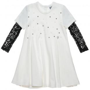 Φόρεμα με δαντέλα στο μανίκι (Κορίτσι 6-12 ετών)