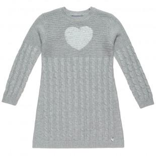 Φόρεμα πλεκτό με παγιέτες σε σχήμα καρδιά (Κορίτσι 6-14 ετών)