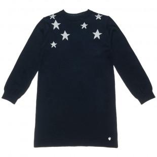 Φόρεμα Πλεκτό με αστέρια (Κορίτσι 6-14 ετών)