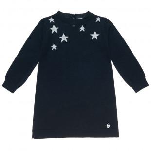 Φόρεμα Πλεκτό με αστέρια (Κορίτσι 2-5 ετών)