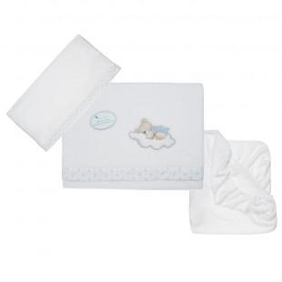 Χειμερινό σετ 3 τμχ (μαξιλαροθήκη 60x30 - κουβέρτα 152x102 - σεντόνι με λάστιχο 120x60)