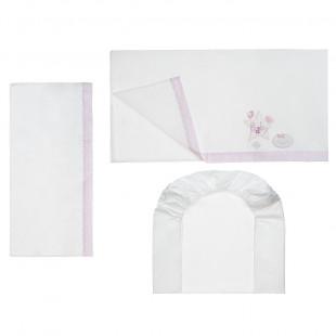 Σετ Σεντόνια 3 τμχ (μαξιλαροθήκη - σεντόνι - σεντόνι με λάστιχο 70x140)