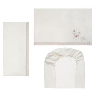 3pcs bedding set (pillowcase 60X30, sheet & fitted sheet70 X 1.40)