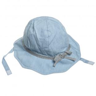 Καπέλο τζιν με φιογκάκι (3-4 ετών)