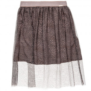 Skirt leopard print with tulle  (6-14 years)