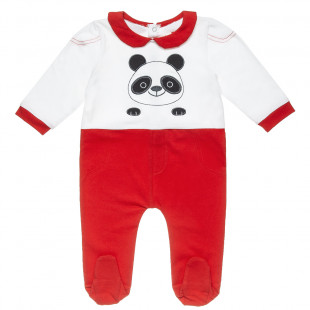 Φορμάκι Tender Comforts με κέντημα panda (1-9 μηνών)