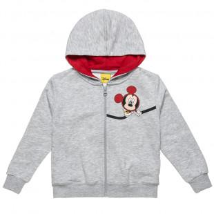 Ζακέτα Disney Mickey Mouse με κουκούλα (12 μηνών-5 ετών)