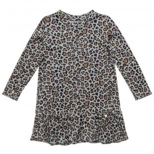 Φόρεμα με λεοπάρ μοτίβο (6-16 ετών)