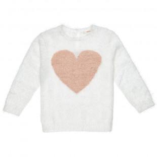 Πουλόβερ μοχέρ με καρδιά (12 μηνών-3 ετών)