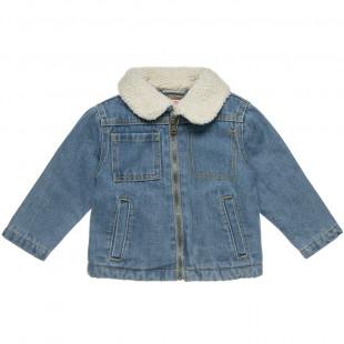 Μπουφάν τζιν με γιακά γούνα προβατάκι (12 μηνών-3 ετών)