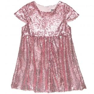 Φόρεμα με ροζ παγιέτες (2-5 ετών)