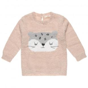 Mπλούζα μοχέρ με γατούλα (12 μηνών-3 ετών)