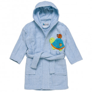 Pale blue bathrobe (2-6 years)