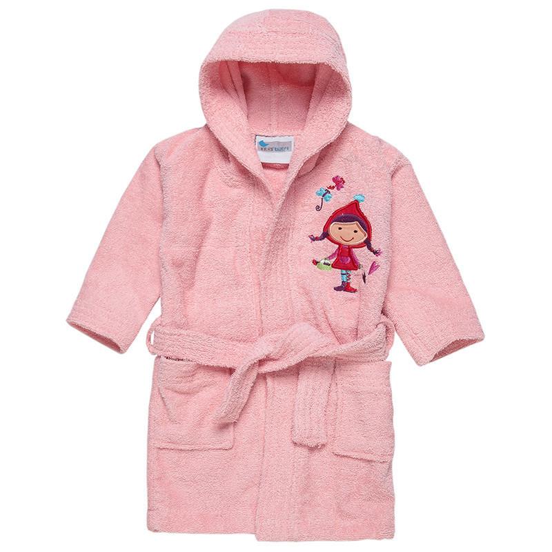 Μπουρνούζι με κέντημα κοριτσάκι 00512-T (2-6 ετών)