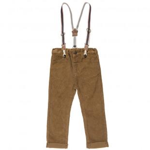 Κοτλέ παντελόνι με αποσπώμενες τιράντες (9 μηνών-3 ετών)
