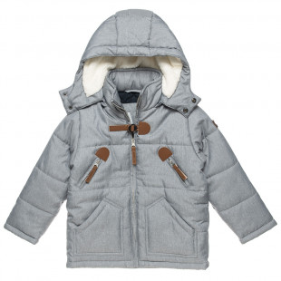 Jacket with metallic and leather details (6-16 years)