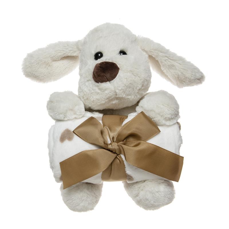 Λούτρινο ζωάκι και βελουτέ κουβέρτα (90x75cm)