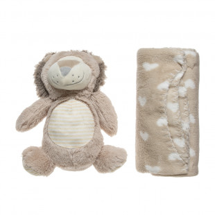 Animal toy and a blanket (90x75cm)
