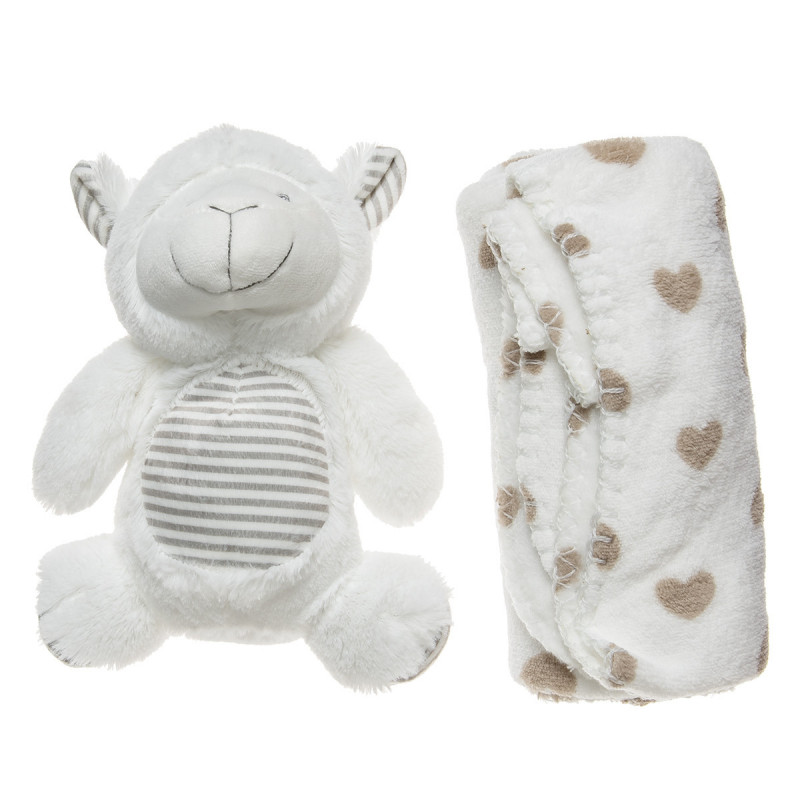 Animal toy and a blanket (90x75 cm)