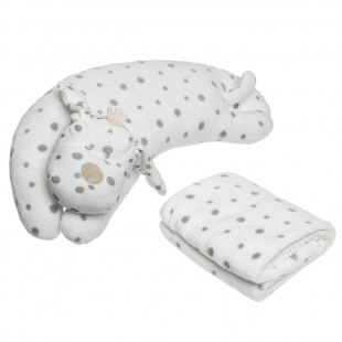 Animal toy and velours blanket (90x75cm)