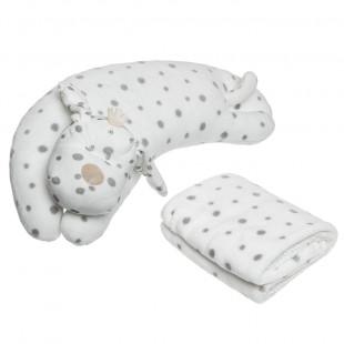 Λούτρινο ζωάκι-μαξιλάρι και βελουτέ κουβέρτα (90x75 εκ)