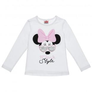 Μπλούζα Minnie Mouse με τύπωμα (2-5 ετών)