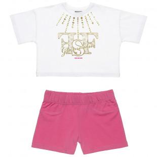 Σετ Five Star μπλούζα με foil τύπωμα και σόρτς (6-16 ετών)