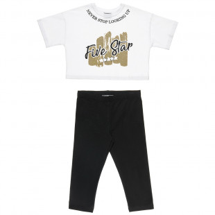 Σετ Five Star μπλούζα με glitter και κολάν (6-16 ετών)