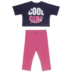 Σετ Five Star μπλούζα με τύπωμα και κολάν (6-14 ετών)