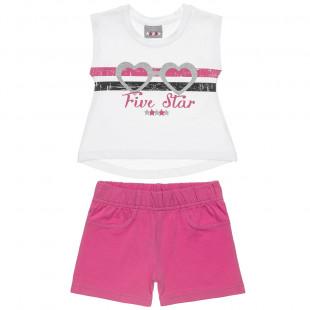 Σετ Five Star μπλούζα αμάνικη και σορτς (18 μηνών -5 ετών)
