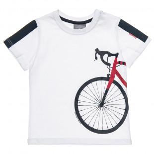 Μπλούζα με τύπωμα ποδήλατο (18 μηνών-5 ετών)