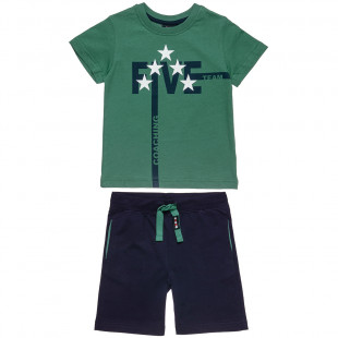 Set Five Star blouse with print and pants (12 months-5 years)