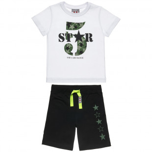 Set Five Star blouse with print 5 and pants (12 months-5 years)