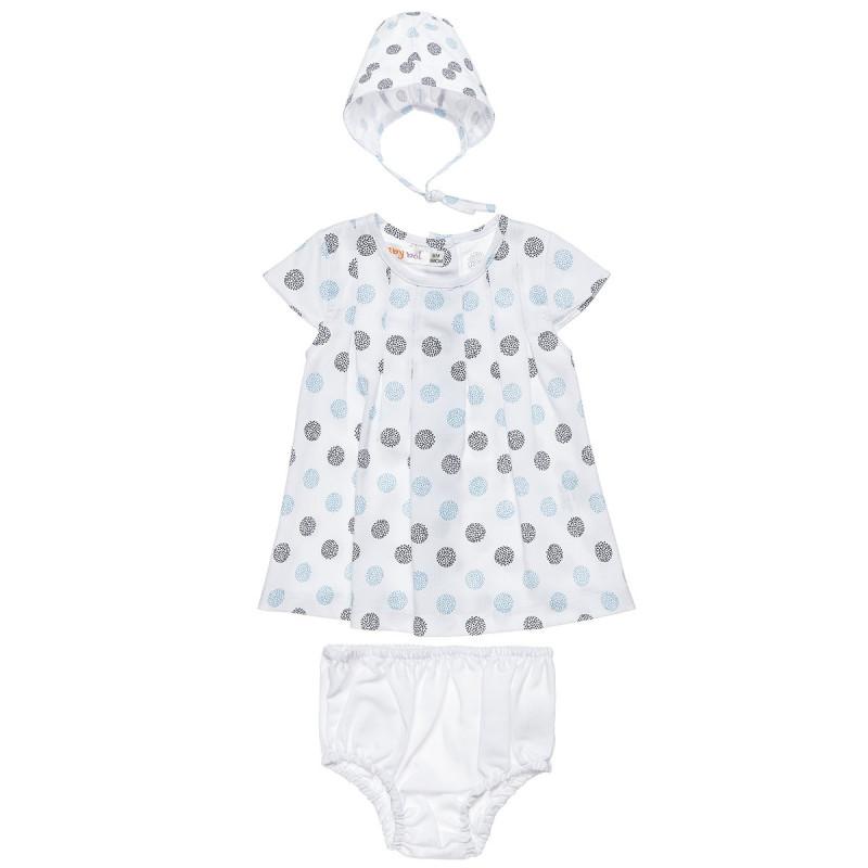 Φόρεμα με σκουφάκι και εσώρουχο (6-12 μηνών)