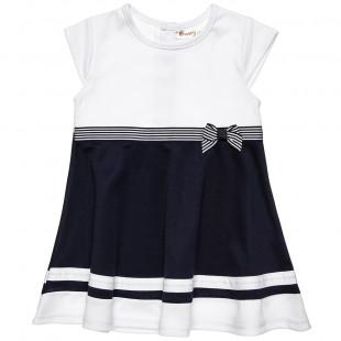 Φόρεμα δίχρωμο με φιόγκο (2-5 ετών)