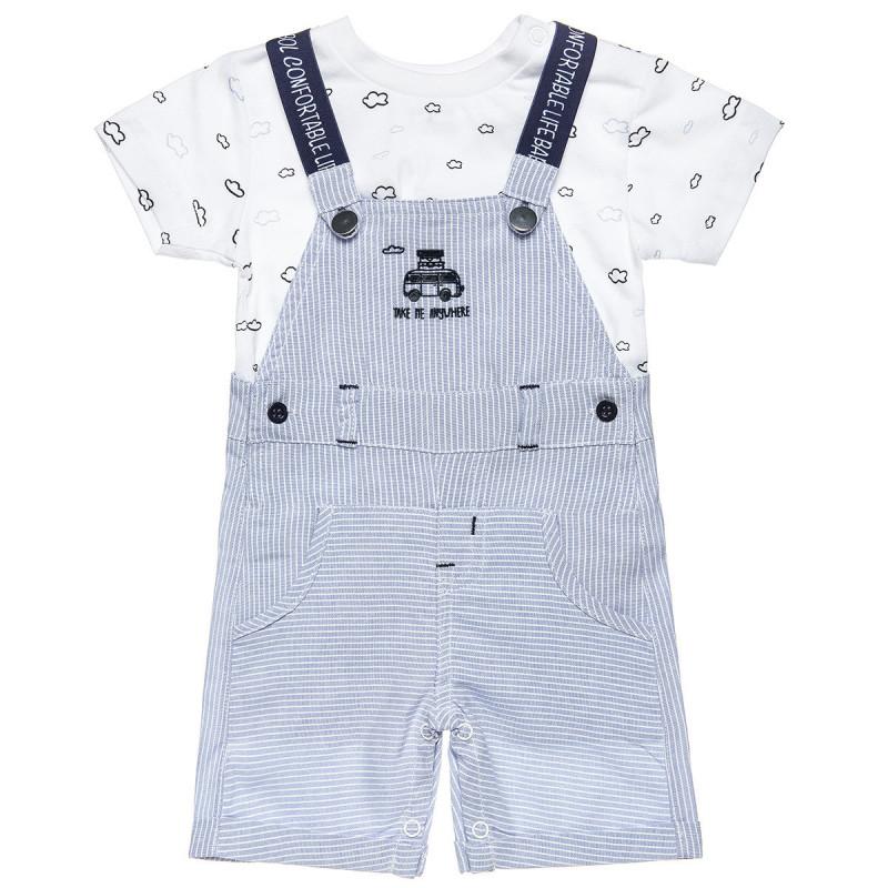 Σετ σαλοπέτα με μπλούζα (3-18 μηνών)