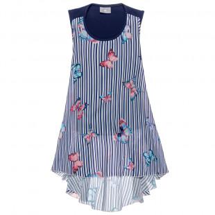 Φόρεμα ριγέ με all over μοτίβο (6-14 ετών)