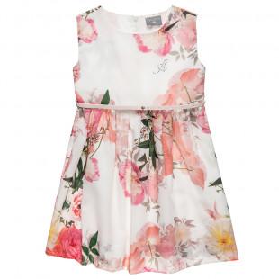 Φόρεμα αμάνικο με φλοράλ μοτίβο (6-12 ετών)
