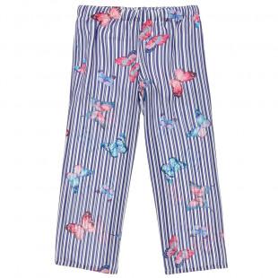 Παντελόνι ριγέ με μοτίβο all over (6-12 ετών)
