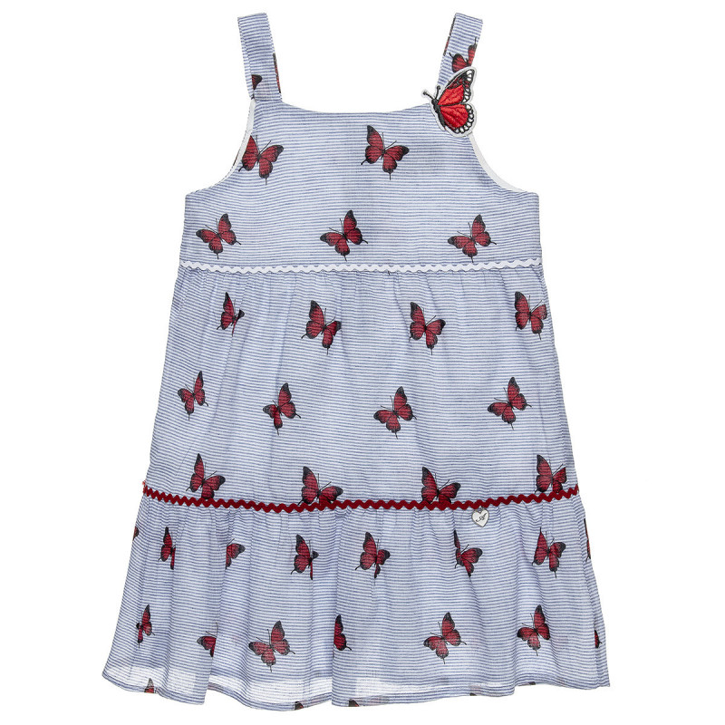 Φόρεμα ριγέ με all over μοτίβο (18 μηνών-5 ετών)