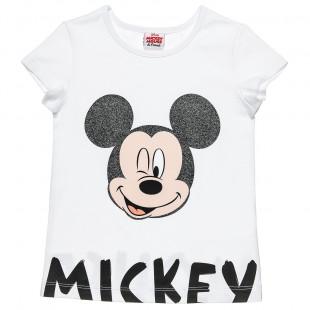 Μπλούζα Disney Μickey Mouse με glitter (3-5 ετών)