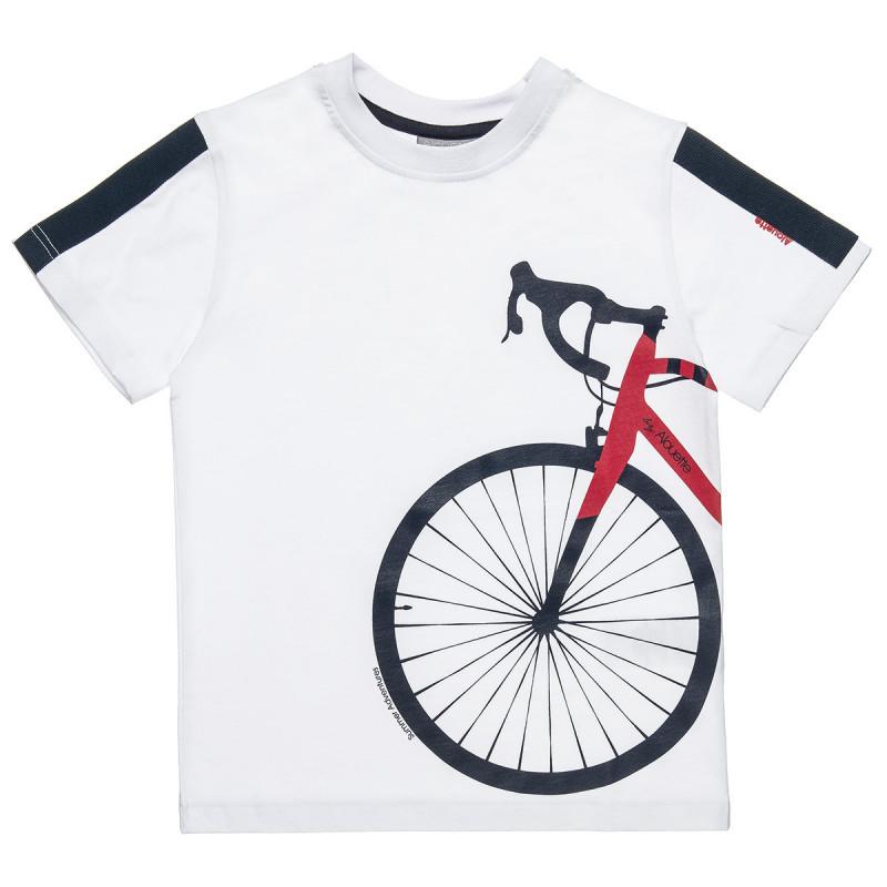 Mπλούζα με τύπωμα ποδήλατο (6-14 ετών)