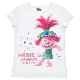 Μπλούζα Trolls με τύπωμα (4-14 ετών)