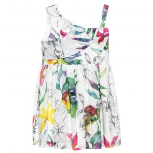 Φόρεμα με φλοράλ μοτίβο και φιόγκο (6-12 ετών)