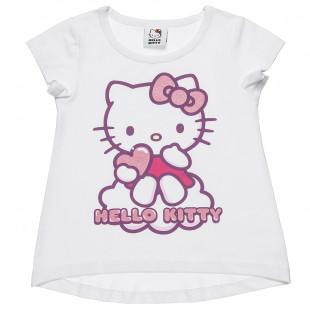 Μπλούζα Hello Kitty με τύπωμα και glitter (2-5 ετών)