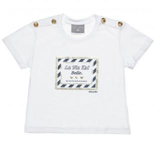 Mπλούζα με foil τύπωμα και κουμπιά (2-5 ετών)