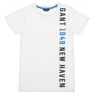 Μπλούζα Gant με ανάγλυφο τύπωμα (8-16 ετών)