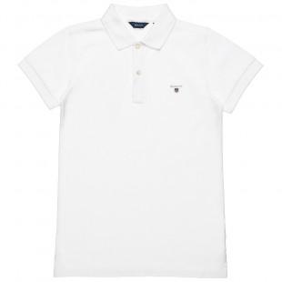 Μπλούζα Gant με γιακά (8-16 ετών)
